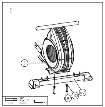 Applegate R10 M - сборка гребного тренажера