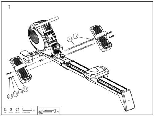 Applegate R10 M - сборка домашнего гребного тренажера